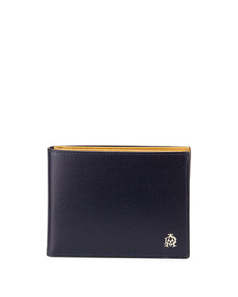 Leather Wallet, Blue