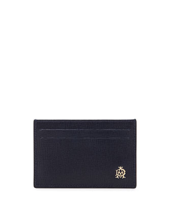 Belgrave Leather Card Case, Blue