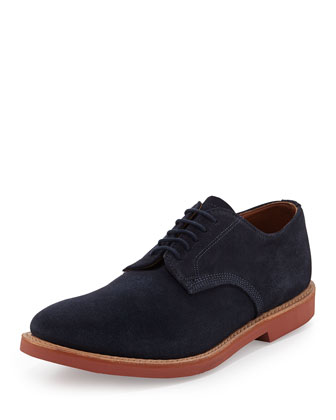 Abram Suede Lace-Up Oxford, Navy