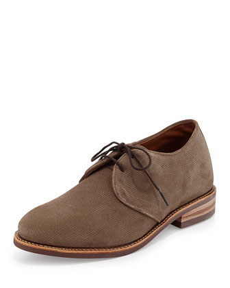 Whitman Embossed Suede Derby Boot, Havana Brown