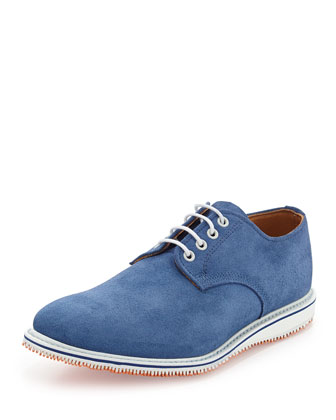Kerouac Lace-Up Suede Oxford, Cobalt
