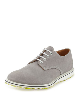 Kerouac Lace-Up Suede Oxford, Gray
