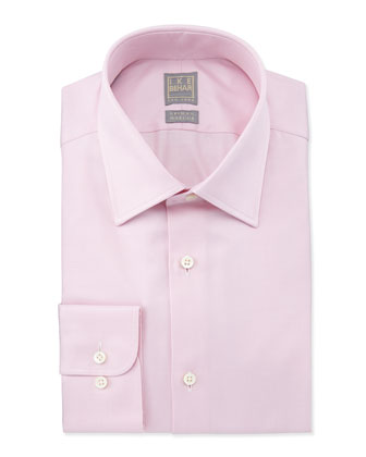 Solid Textured Dress Shirt, Blush Pink