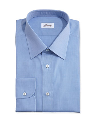 End-on-End Dress Shirt, Blue