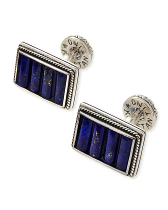 Sterling Silver Lapis Cuff Links