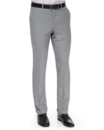 High Performance Wool Trousers, Pearl Gray