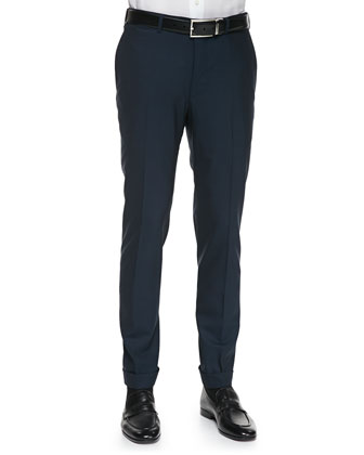 High Performance Wool Trousers, Blue-Gray