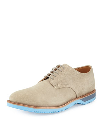 Chase Suede Derby Shoe, Bronze/Light Blue