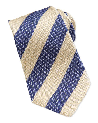 Stripe Grenadine Tie, Navy/Cream