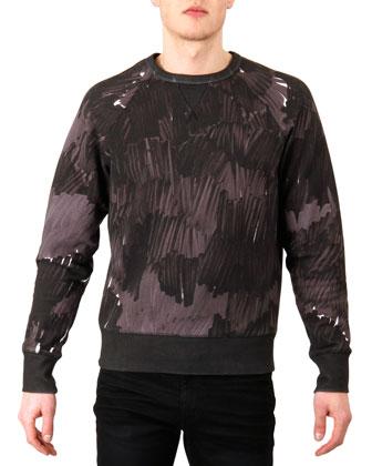 Camo-Print Sweatshirt, Black