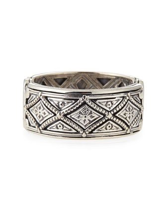 Men's Sterling Silver Zeus Band Ring, Size 11