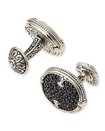 Pave Spinel Cuff Links