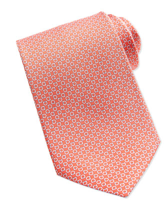 Gancini Silk Tie, Red