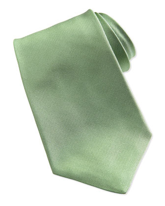 Solid Silk Oxford Tie, Green