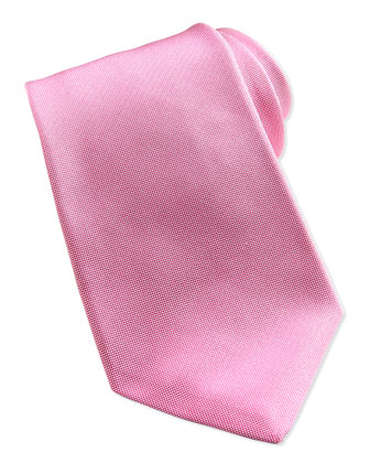 Solid Silk Oxford Tie, Pink
