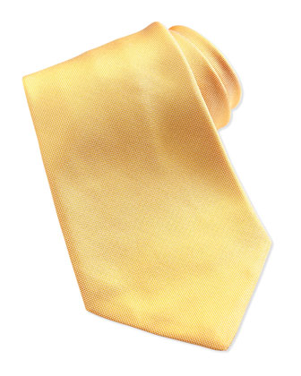 Solid Silk Oxford Tie, Maize