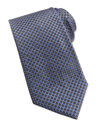 Circle Neat Woven Tie, Gray
