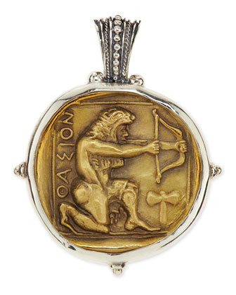 Men's Sterling and Bronze Hercules Pendant
