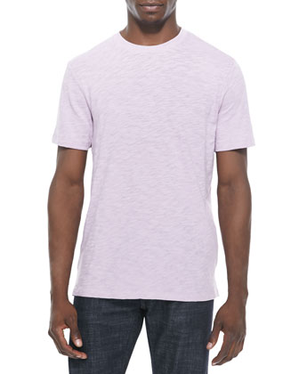 Slub-Knit Tee, Light Purple