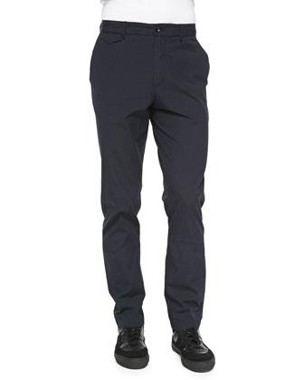 Tonal Seersucker Trousers, Navy