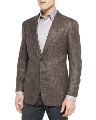 G-Line Melange Jacket with Contrast Pane