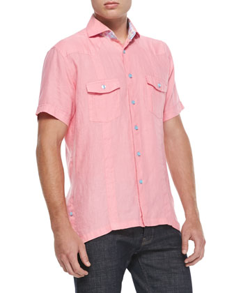 Mini D Laurent Sport Shirt, Medium Pink