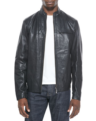 Christo L Apoc Leather Jacket