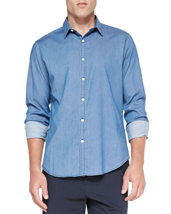 Zack PS Ryerson Chambray Shirt, Blue