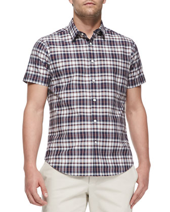 Zack Natna Plaid Shirt, Blue