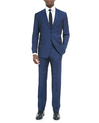 Two-Button Suit Jacket, Bright Navy