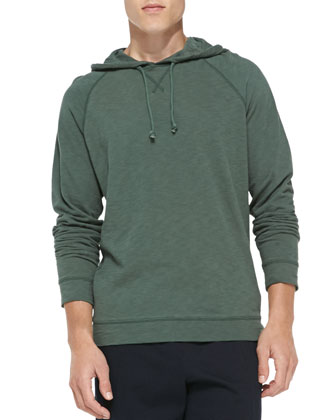 Flame Jersey Pullover Hoodie, Green