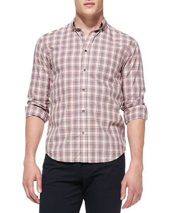 Foxen Plaid Button-Down Shirt
