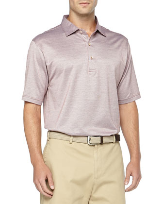Short-Sleeve Knit Polo, Red Laurens