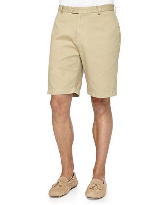 Short-Sleeve Knit Polo & Twill Shorts