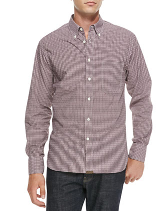 Tuscumbia Mini-Check Button-Down Shirt