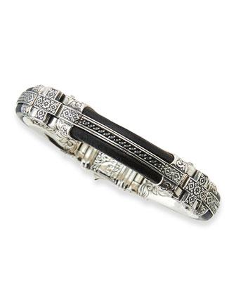 Men's Byzantine Bracelet with Spinel Bar