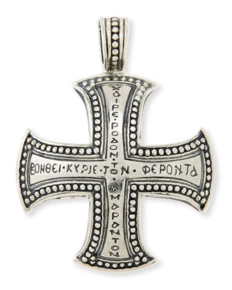 Men's Dare Sterling Silver Cross Pendant