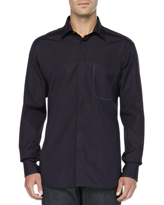 Long-Sleeve Woven Shirt & Stelvio Dark Wash Jeans