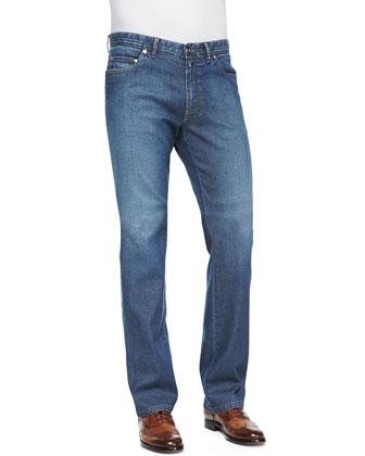 Okayama Reversible Leather/Silk Jacket, Mini-Check Woven Shirt & ...