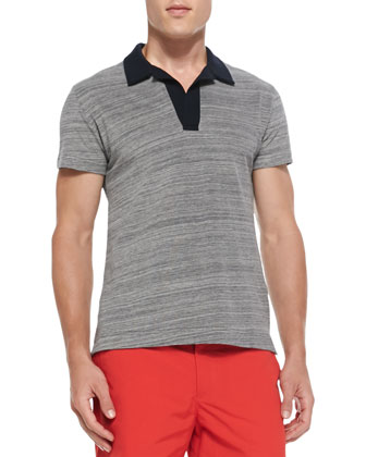 Felix Contrast Pique-Knit Polo & Bulldog Mid-Length Swim Trunks