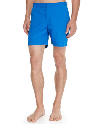 Bulldog Mid-Length Swim Trunks, Bay Blue