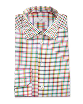 Colorful Check Twill Dress Shirt, York