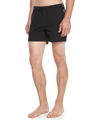 Setter Short-Length Swim Trunks, Black