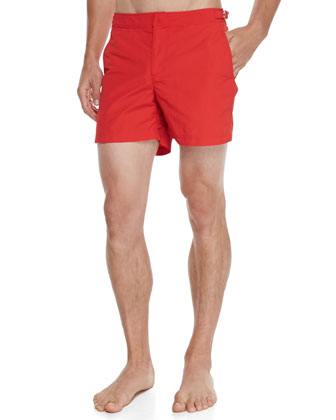 Setter Short-Length Swim Trunks, Red