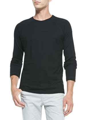 Flame Long-Sleeve Shirt, Black