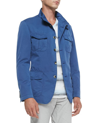 Overdye Outerwear Jacket, Blue