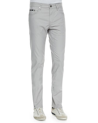 Bold-Check Sport Shirt & 5-Pocket Stretch-Twill Pants