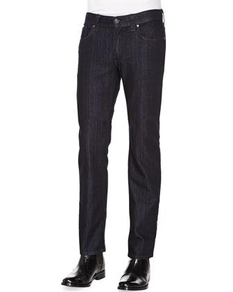 Slim Jimmy Judas-Rinse Jeans, Dark Blue