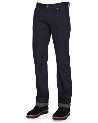 Slim-Fit Denim Jeans, Black