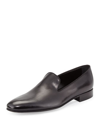 Slip-On Leather Loafer, Black